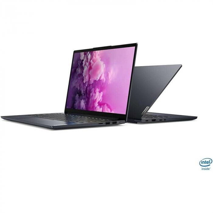 "Laptop Lenovo Yoga Slim 7 14IIL05 cu procesor Intel® Core™ i7-1065G7, 14"" Full HD, 16GB, 512GB SSD, Nvidia GeForce MX350 2GB, Windows 10 Home, Dark Moss 3"