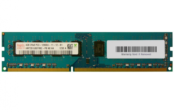 Memorie desktop Hynix 4GB DDR3 2Rx8 PC3-12800U 1600MHz, Bulk 0