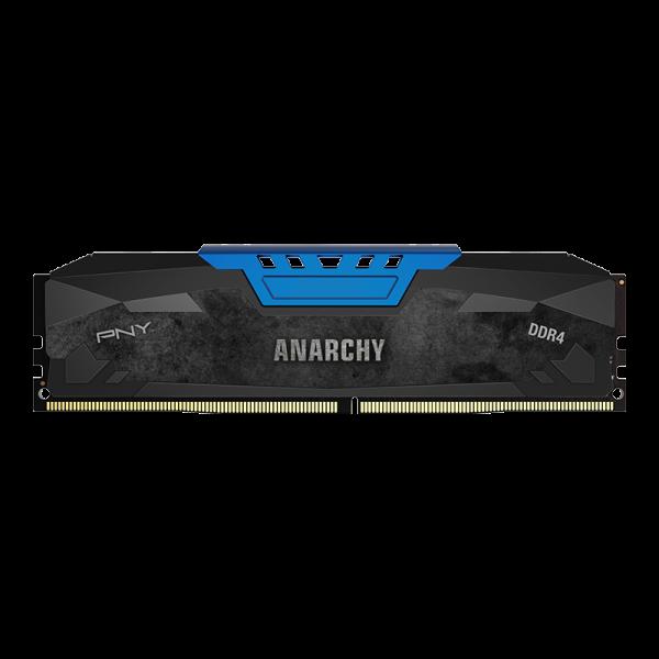 Memorie desktop PNY Anarchy 8GB Kit (2x4GB) PC4-19200 2400MHz CL15 DDR4 Albastru DIMM 0