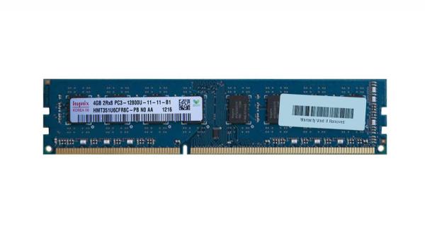 Memorie Hynix 4GB DIMM, DDR3, 2Rx8 PC3-12800U, bulk 0
