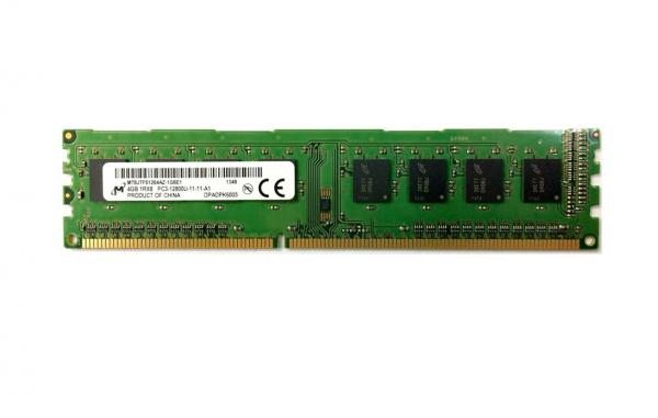 Memorie Desktop Micron 4GB, DIMM, DDR3 2Rx8 PC3-12800U 1600MHz, Bulk 0