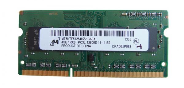 Memorie Notebook Micron 4GB PC3L 1600 MHz PC3-12800 DDR3 SDRAM, Bulk 0