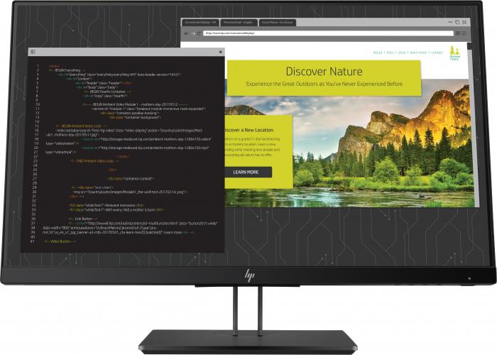 """Monitor HP IPS LED 23.8"""" Z24nf G2, Full HD (1920 x 1080), VGA, HDMI, DisplayPort, USB 3.0, Pivot, 5 m [0]"""