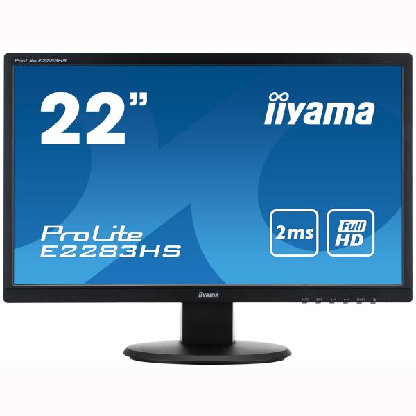 "Monitor LED Iiyama ProLite 21.5"", Full HD, DVI, HDMI, VGA, Boxe, Negru, E2283HS [0]"