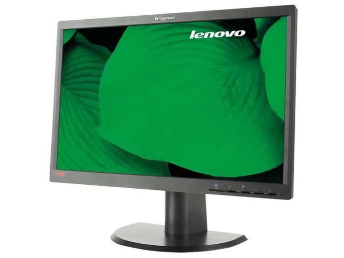 "Monitor Refurbished LED Lenovo L2252p 22"" LCD HD, 5ms, 250cd/m2, VGA, DVI-D, DisplayPort  negru [0]"