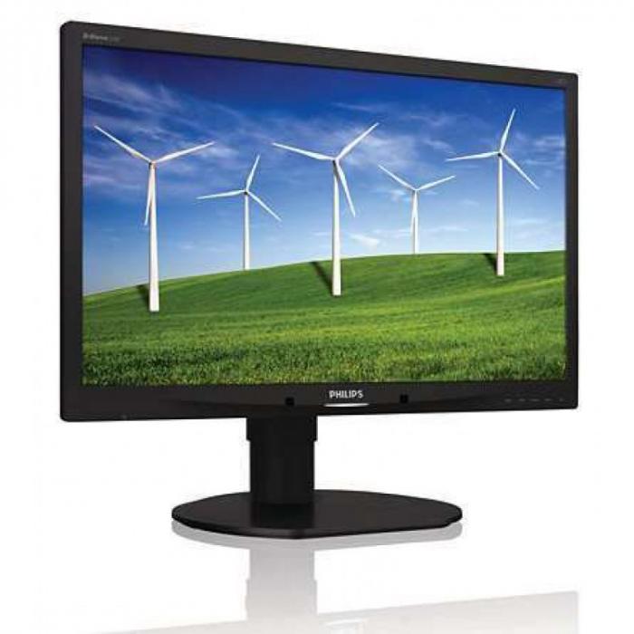 """Monitor Refurbished Philips 220B4L 22"""" LCD HD, 5ms, 250cd/m2, VGA, DVI-D,negru [0]"""