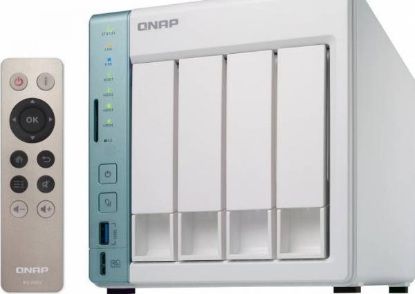 NAS Qnap TS-451A-2G, Intel Celeron N3060 Dual-Core, 2GB RAM, 4-Bay, 2 x Gigabit LAN, 3 x USB 3.0, 1 x HDMI 1