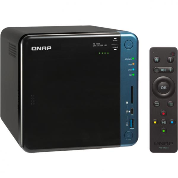 NAS Qnap TS-453B, Intel Celeron J3455 1.5GHz, 8GB DDR3L, 4 Bay, 5 x USB 3.0, 1 x USB Tip C, 2 x LAN, 2 x HDMI 3