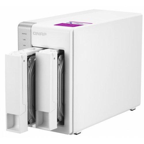 NAS QNAP 2-Bay TurboNAS, SATA 6G, 1,7GHz 4-Core, 4GB RAM, 2x GbE LAN, 3xUSB 3.0 5