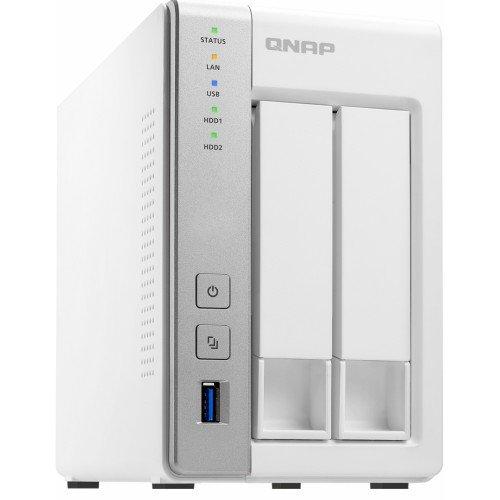 NAS QNAP 2-Bay TurboNAS, SATA 6G, 1,7GHz 4-Core, 4GB RAM, 2x GbE LAN, 3xUSB 3.0 4