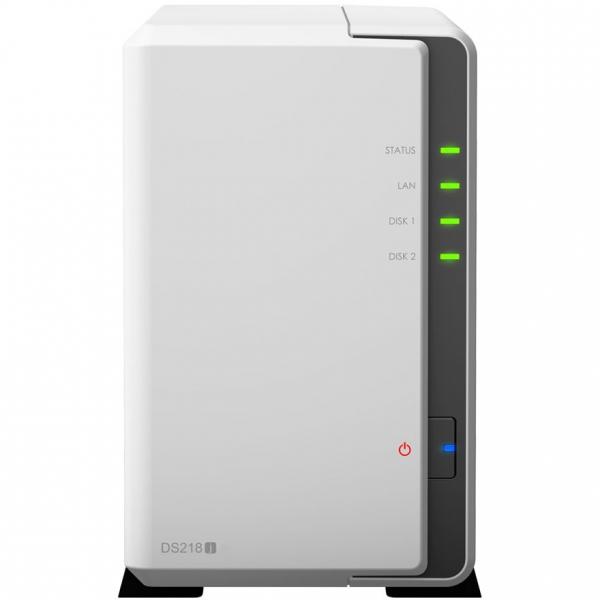 Network Attached Storage Synology DiskStation DS218j cu procesor Marvell Armada 385 88F6820 Dual Core 1.3 GHz, 512MB DDR3, 2-Bay, 1 x Gigabit LAN, 2 x USB 3.0 [0]