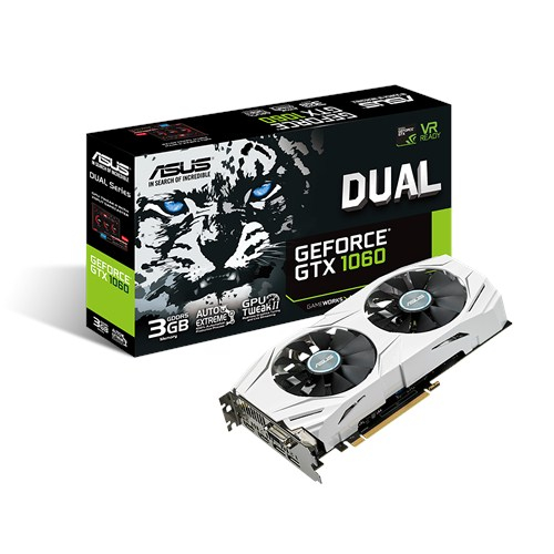 Placa video ASUS GeForce GTX 1060 Dual, 3GB DDR5, 192-bit 2