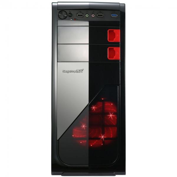 Sistem Desktop AMD Ryzen 5 2600, 8GB DDR4, SSD 240GB, placa video Gigabyte Radeon RX570 4GB/250 bit, carcasa Segotep Racing 0
