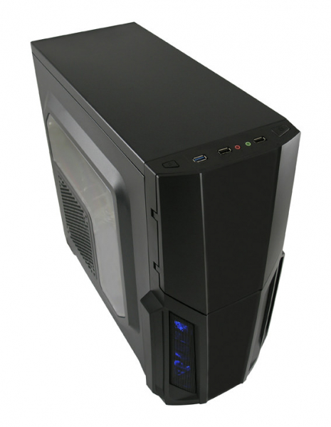 Sistem Desktop cu procesor AMD Ryzen 5 2600 3.4GHz Hexa-Core , 8GB DDR4, 240GB SSD, PNY GTX 960 2G/128/PCI 3.0, Carcasa Gaming 982B 1