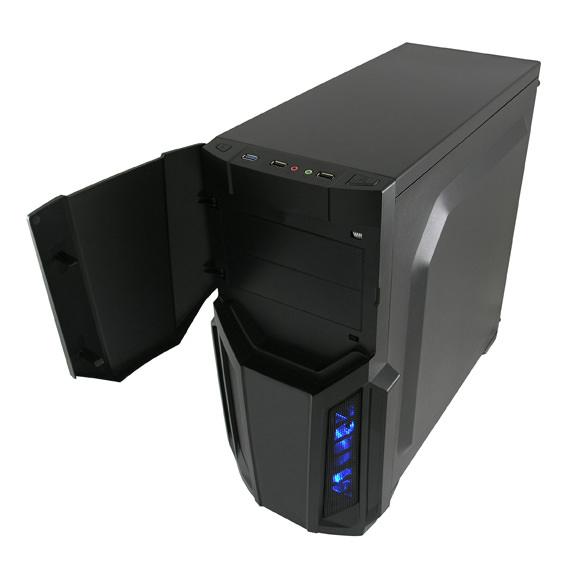 Sistem Desktop cu procesor AMD Ryzen 5 2600 3.4GHz Hexa-Core , 8GB DDR4, 240GB SSD, PNY GTX 960 2G/128/PCI 3.0, Carcasa Gaming 982B 2