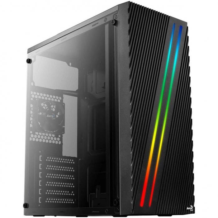 Sistem GAMING Aerocool Streak RGB cu procesor Intel® Core™ i3-9100F Coffee Lake, 4.2GHz, 16GB DDR4, 480GB SSD, AMD RADEON RX580 8GB GDDR5 [1]