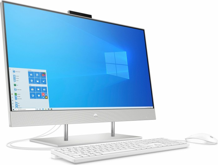 Sistem HP All-in-One 27-dp0025ng natural Silver 68,6 cm (27 inch) Intel® Core™ i7-10700T 8 GB 512 GB SSD Intel UHD Graphics 630 Windows® 10 Home 1