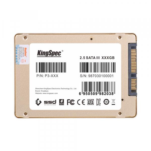"""Solid State Drive (SSD) KingSpec SSDNow P3-128, 120GB, 2.5"""", SATA III 1"""