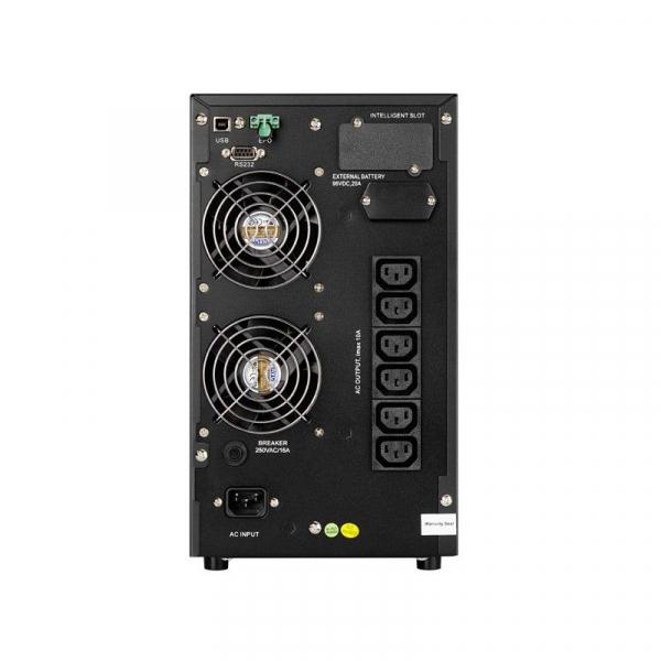 UPS AEG Protect C 2000VA / 1800W, Online Dubla Conversie, Afisaj LCD, intrare 110-300V, Repornire automata, Management, RS232, USB, EPO, ECO Mode 1