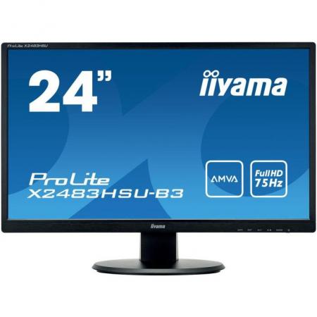 Monitor IIyama X2483HSU-B3 24 inch 4 ms Black 75Hz0