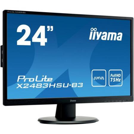 Monitor IIyama X2483HSU-B3 24 inch 4 ms Black 75Hz1