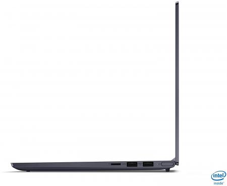 Ultrabook Lenovo 14'' Yoga Slim 7 14IIL05, UHD, Procesor Intel® Core™ i7-1065G7 (8M Cache, up to 3.90 GHz), 16GB DDR4X, 512GB SSD, Intel Iris Plus, Win 10 Home2