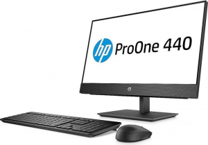 """All-in-One HP ProOne 440 G4 AIO,23,8 """" FHD(1920x1080), i5-8500T, RAM 8GB DDR4, SSD 256 GB M.2 PCIe, Windows 10 Pro, tastatura in limba Germana2"""
