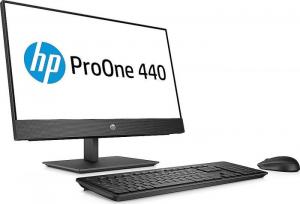 """All-in-One HP ProOne 440 G4 AIO,23,8 """" FHD(1920x1080), i5-8500T, RAM 8GB DDR4, SSD 256 GB M.2 PCIe, Windows 10 Pro, tastatura in limba Germana1"""