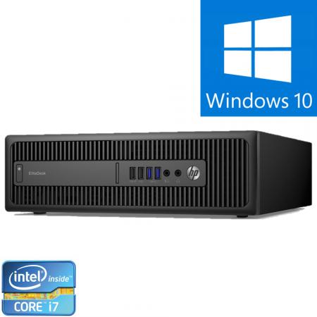 Calculator Refurbished  HP EliteDesk 800 G2 SFF Intel Core i7-6700, 8GB DDR4, 500GB HDD Windows 10 Pro [0]