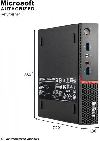 Calculator REFURBISHED Lenovo ThinkCentre M910Q Mini PC, Intel Core i5-7500T 2.70GHz, 8GB DDR4, 256 SSD, Win 10 PRO [2]