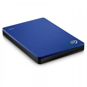 "HDD extern Seagate Backup Plus Slim Portable, metalic, 2TB, 2.5"", USB 3.0,Albastru2"