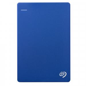 "HDD extern Seagate Backup Plus Slim Portable, metalic, 2TB, 2.5"", USB 3.0,Albastru0"