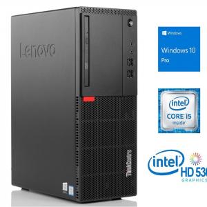 Sistem PC Refurbished Lenovo ThinkCentre M710t Desktop, Intel Core i5-6500, 8 GB RAM, 240Gb SSD, DVDRW, DisplayPort, VGA, Windows 10 Pro [0]
