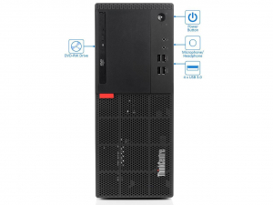 Sistem PC Refurbished Lenovo ThinkCentre M710t Desktop, Intel Core i5-6500, 8 GB RAM, 240Gb SSD, DVDRW, DisplayPort, VGA, Windows 10 Pro [1]