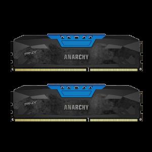Memorie desktop PNY Anarchy 8GB Kit (2x4GB) PC4-19200 2400MHz CL15 DDR4 Albastru DIMM1