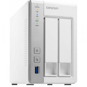 NAS QNAP 2-Bay TurboNAS, SATA 6G, 1,7GHz 4-Core, 4GB RAM, 2x GbE LAN, 3xUSB 3.04