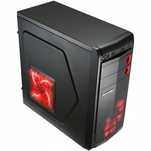 Sistem Desktop AMD Ryzen 5 2600, 8GB DDR4, SSD 240GB, placa video Gigabyte Radeon RX570 4GB/250 bit, carcasa Segotep Racing3