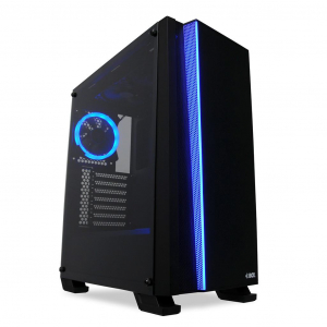 Sistem Desktop GAMING Aerocool Wizard 4 RGB cu procesor Intel® Core™ i3-9100F Coffee Lake, 4.2GHz, 8GB DDR4, 1TB HDD, 120GB SSD, AMD RADEON RX570 4GB GDDR50