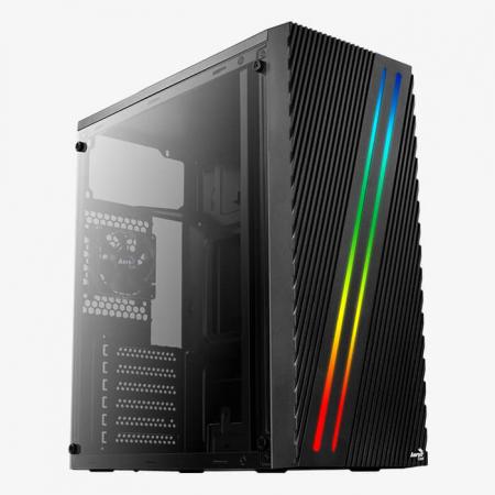 Sistem GAMING Aerocool Streak RGB cu procesor Intel® Core™ i3-9100F Coffee Lake, 4.2GHz, 16GB DDR4, 480GB SSD, AMD RADEON RX580 8GB GDDR5 [0]