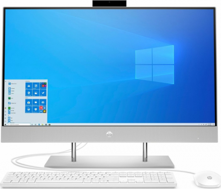 Sistem HP All-in-One 27-dp0025ng natural Silver 68,6 cm (27 inch) Intel® Core™ i7-10700T 8 GB 512 GB SSD Intel UHD Graphics 630 Windows® 10 Home0
