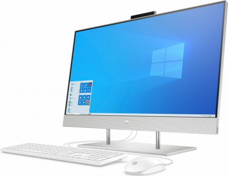 Sistem HP All-in-One 27-dp0025ng natural Silver 68,6 cm (27 inch) Intel® Core™ i7-10700T 8 GB 512 GB SSD Intel UHD Graphics 630 Windows® 10 Home2