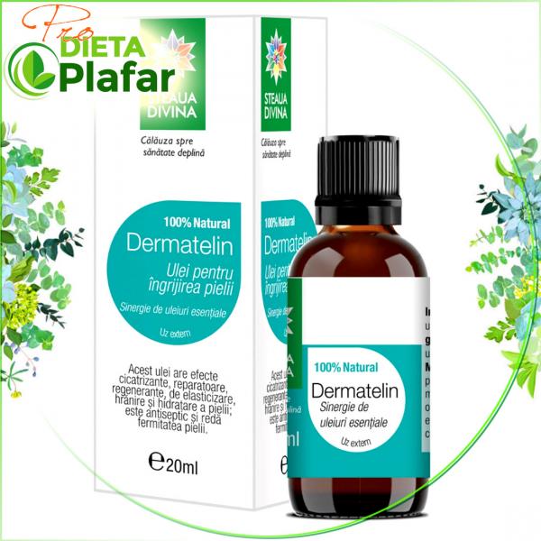 Dermatelin cu ulei de migdale este un tratament naturist pentru piele sanatoasa 20 ml.