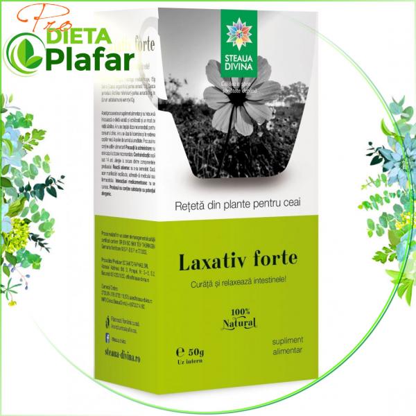 Laxativ Forte este un ceai din plante medicinale cu efect care nu da dependenta, 50 gr.