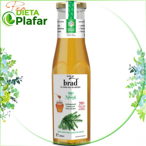 Sirop de BRAD cu miere Bio de Salcam 230 ml.