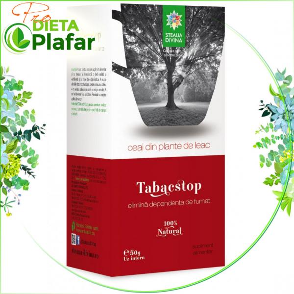 Tabacstop ceai Spune STOP Fumatului cu plante medicinale, 50 gr.