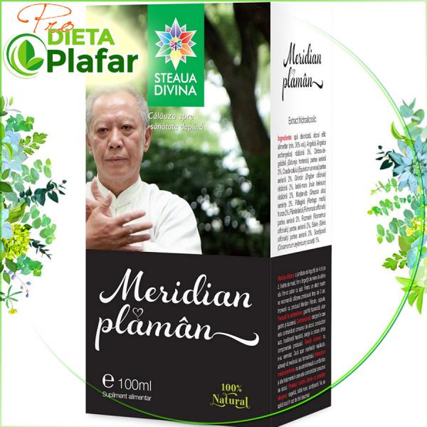 Meridian Plaman este o tinctura din plante medicinale tratament naturist pentru sănătatea plămânilor
