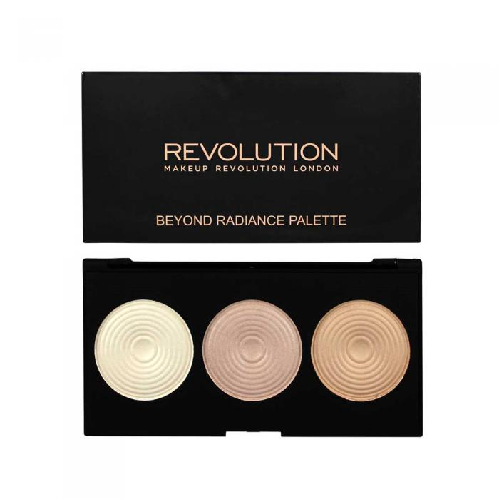 Paleta iluminatoare MAKEUP REVOLUTION 3 Radiant Lights Highlighter Palette - Beyond Radiance, 15g-big