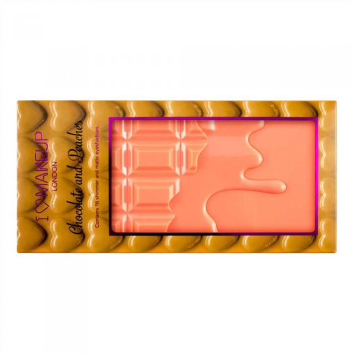 Paleta de Farduri MAKEUP REVOLUTION I Heart Makeup I Love Chocolate - Chocolate and Peaches-big
