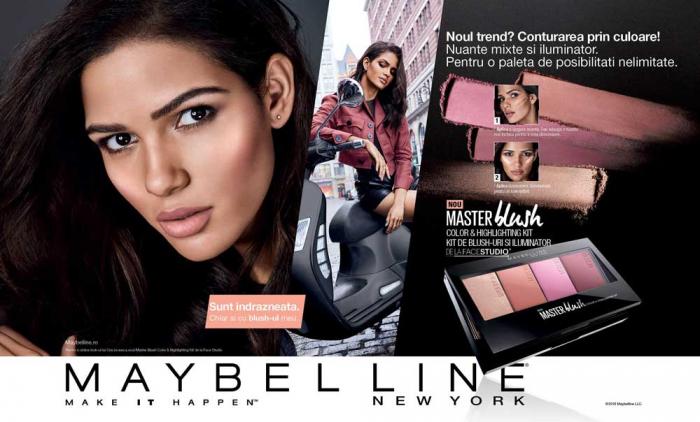 Paleta fard de obraz si iluminator Maybelline New York Master Blush 10, 14 g-big