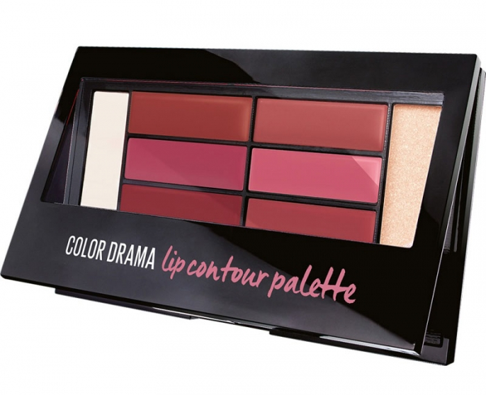 Paleta rujuri Maybelline New York Color Drama Lip Contour Palette, 02 Blushed Bombshell, 4 g-big